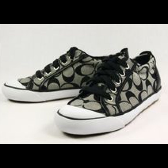 5006832c04 🎃SALE! Coach converse sneakers black white 9.5